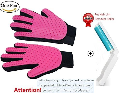 Fellpflege-Handschuh von iQ-Pet   2 Seiten: Gummi- + Mikrofaserseite   Tierhaare kinderleicht entfernen   Hunde-Handschuh, Katzen-Handschuh, Haustier-Handschuh, Bürsten-Handschuh   Massage-handschuh, Hund, Katze, Bürste, Fell, Tier, Handschuh