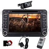 Eincar 7-Zoll-Doppel-DIN-Autoradio Bluetooth mit DVD-Player Autoradio Sat Nav mit freiem Diagramm Karte für VW POLO JETTA PASSAT Caddy + CANBUS Support SWC, Subwoofer, AUX, Cam-in, USB SD (WinCE 6.0)