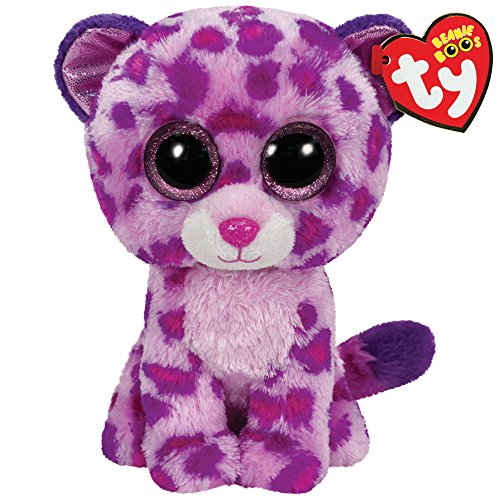 TY - Glamour, peluche leopardo, 15 cm, color rosa (36085TY)
