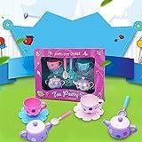 Elegantes Teeset für Kinder, zum Simulieren von Küchen-Spielzeug, Spielzeug für Mädchen, 8 Stück