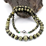 O-stone 3A Best Green Tourmaline Paradise Necklace Famly Beads Collection with Cat Eye Effect Bracelet 4mm-11mm Bracelet Grounding Stone Protection Very Precious Gemstone
