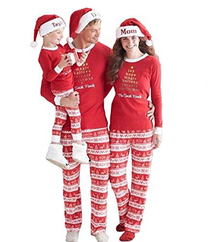 Liege Nachtwäsche (Topkundenservice Familie Zusammenpassen Weihnachten Schlafanzug Pyjama Set Mama Papa Kinder Hausanzug Sleepwear Weihnachten Nachtwäsche Familie Damen Herren Kinder)