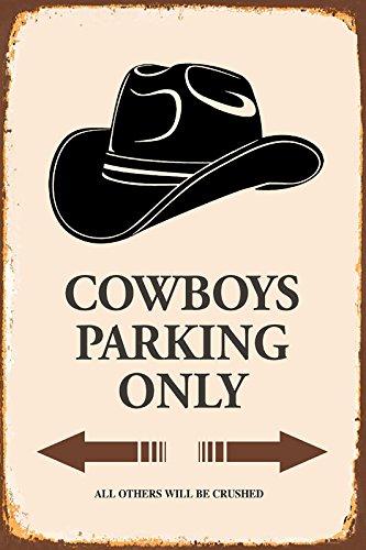 Schatzmix Cowboys Parking only blechschild