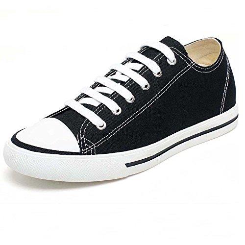 CHAMARIPA Canvas Scarpe da Ginnastica con Rialzo Sneaker a Collo Alto Uomo Fino a 6 cm - H52C08K011D