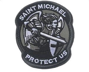 Patch badge Stickers Archange Saint Michel US Saint Michel Gris + Noir