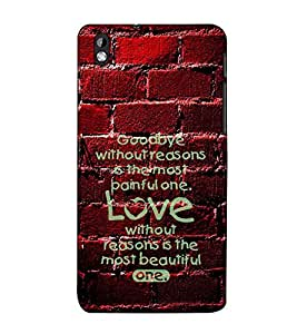Fuson Designer Back Case Cover for HTC Desire 816 :: HTC Desire 816 Dual Sim :: HTC Desire 816G Dual Sim (Goodbye without reason theme)