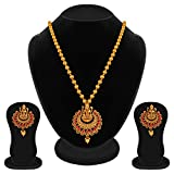 #5: Apara Ruby Laxmi Temple Jewellery Necklace Set for Women