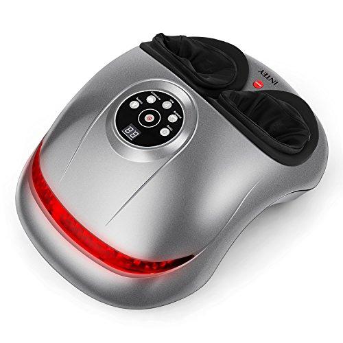 INTEY Fußmassagegerät mit Shiatsu Massage Hitze Rolling und Luftdruck Funktion Geeignet für die Senioren, Athlet und Sesshaft zu Hause [Multi-Massage] Geschenk für Eltern & Geliebte