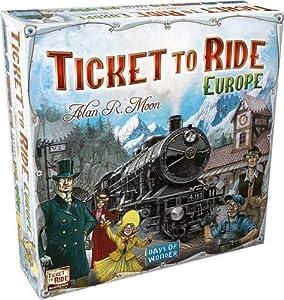 rides: Days of Wonder Ticket to Ride Europe - Juego de mesa de estrategia sobre ferroca...