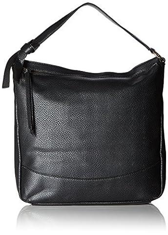 iTECHOR Frauen weichen PU-Leder-Handtasche Tote Slouchy Hobo Schultertasche - Schwarz