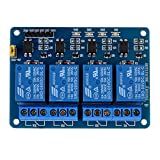 Kuman 4 Channel DC 5V Relay Module for Arduino Raspberry Pi DSP AVR PIC ARM K49 Test