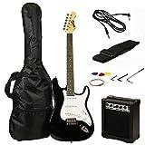 RockJam RJEG02-SK-BK Electric Gitarre Set schwarz