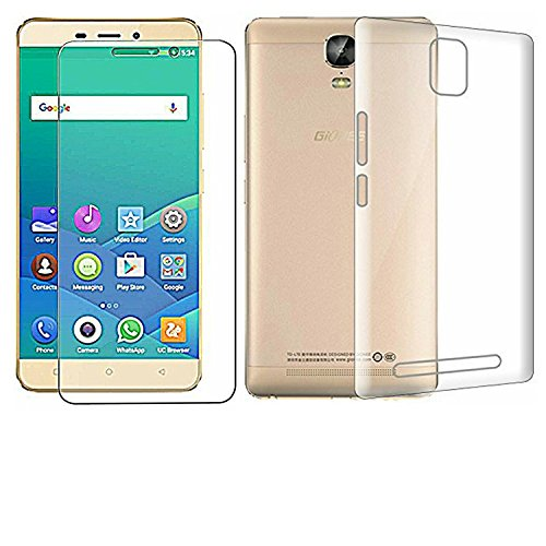 AVICA Combo Offer Premium Transparent Back Cover TPU +2.5D HD Tempered Glass for Gionee P7 Max image