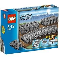 LEGO City - Vías Flexibles, Juguete de Contrucción de Vías de Tren para Complementar (7499)