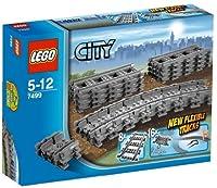 LEGO City 7499 - Binari flessibili - Il set include: 8 binari dritti e 16 binari flessibili - Numero totale di pezzi: 24 - Set non compatibile con i treni Lego 9V