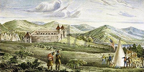Artland Qualitätsbilder I Wandbilder Selbstklebende Wandfolie 60 x 30 cm Menschen historische Persönlichkeiten Malerei Grün B9QO John C Fremont (1813-1890)