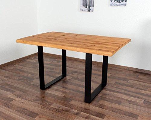 Esstisch Wooden Nature 411 Buche massiv geölt, Tischplatte rustikal - 140 x 90 cm (B x T)