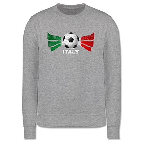 EM 2016 - Frankreich - Italy Fußball Vintage - Herren Premium Pullover Grau Meliert