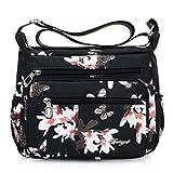 Sommer Umhängetaschen Wasserdichtes Nylon Crossbody kleine Frauen Messenger Bags Blumen Drucken Handtaschen