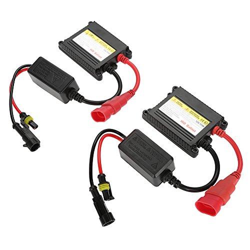 Qiilu 12 V 55 W universal Auto Digital Xenon DC HID Balastro, 2pcs todos  los Serie Plug-It para herramientas de repuesto para H1 H3 H4 H7 H10 H11  9005