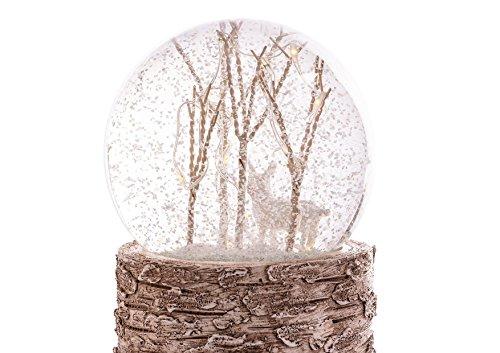 Schneekugel/Hirsch / beleuchtet und mit Schneeglitzer/Maße 9x9x13,5cm / Lieferung ohne Batterie -