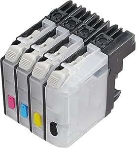 Cartouches rechargeables pour Brother LC - 123, LC - 125 Cartouches à puce prêtes à l'emploi), convient pour les modèles d'imprimantes Brother DCP-J132W DCP-J152W DCP-J552DW: DCP-J752DW DCP-J172W DCP-J4110DW: MFC-J245: MFC-J870DW: MFC-J4610DW: MFC-J6720DW: MFC-J470DW: MFC-J4410DW: MFC-J4710DW: MFC-J6920DW: MFC-J650DW: MFC-J4510DW MFC-J6520DW: