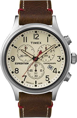 Timex Expeditoin Scout Chrono Orologio Cronografo Quarzo Uomo con Cinturino in Pelle TW4B04300