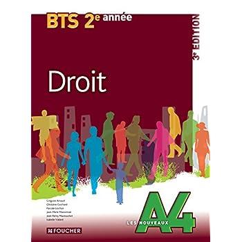 Les Nouveaux A4 Droit 2e année BTS 3e édition
