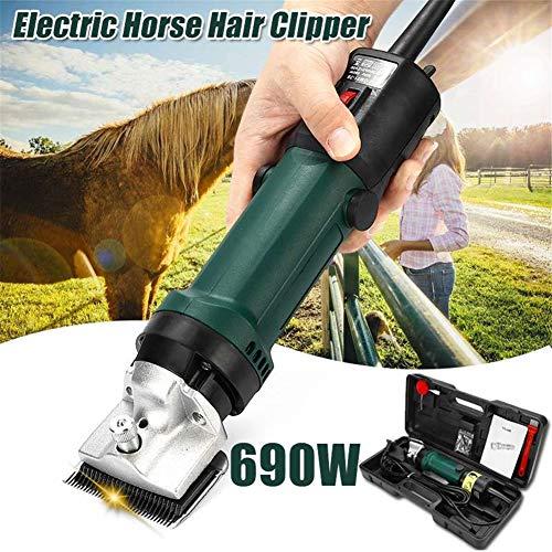 ferdeschermaschine Haarschneidemaschine Schermaschine für Pferde und Schafe Durch leicht wechselbare Köpfe für beide Tiersorten geeignet ()