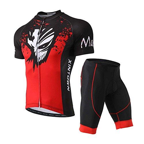 SXSHUN Hombres Conjunto Maillot Ciclismo Camiseta