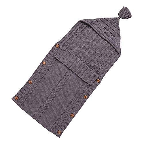 Dorapocket Neugeborene Strickjacke Schlafsack Sack Baby Wrap Swaddle Decke,Braun (Großen Sherpa-fleece T-shirt)