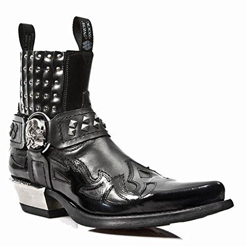 New Rock Mens M 7950-S1 Antik Leather Boots Noir