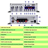 NKTECH 3A Adapter HY-V10 FM/MP3/USB/TF/DVD Audio Lautsprecher Car Bluetooth Digitaler Stereo Verstärker Hi-Fi Bass 2 kanäle DSP 2 x 20W RMS Player Schwarz + Fernbedienung Vergleich
