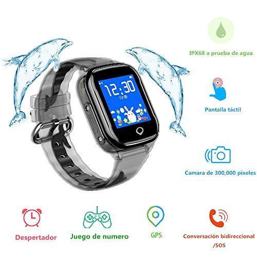 MUSSON Reloj Inteligente Niños, SmartWatch IPX68 Impermeable GPS Rastreador SIM Phone 1.44...