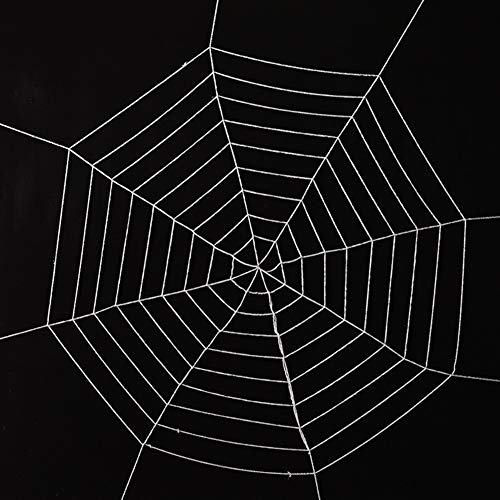 TREA2SURE Riesiges Spinnennetz, Halloween-Dekoration, gruselige Dekoration, für drinnen und draußen, Spukhaus, rund, Schwarz/Weiß