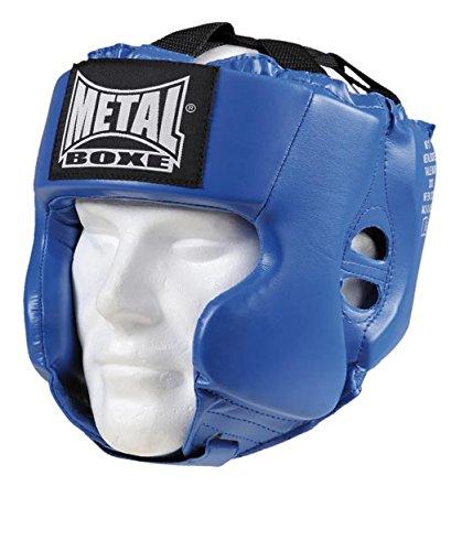METAL BOXE MB117 - Casco de Boxeo, Color Azul - Azul, tamaño Junior