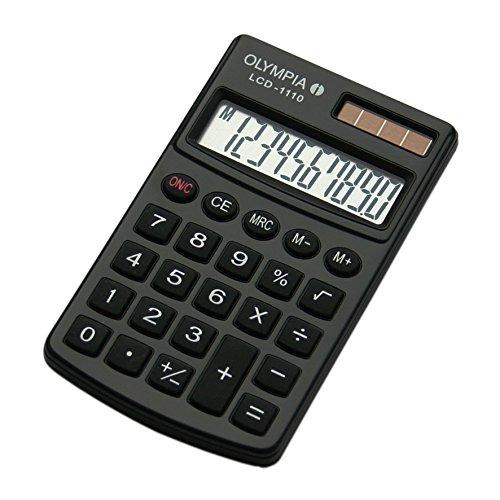 Olympia Taschenrechner LCD - 1110, schwarz