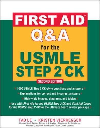 First aid Q&A for the USMLE step 2 CK (Medicina) por Le Tao