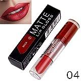 Yazidan Miss Rose Flüssigkeit Lippenstift Feuchtigkeitscreme SAMT Lippenstift Kosmetik Schönheit Bilden Wasserdicht Vampir-Stil Glanz Glänzend Mode Lange andauernd Feuchtigkeitsspendend (#4)