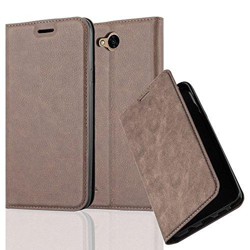 Cadorabo Hülle für LG X Power 2 - Hülle in Kaffee BRAUN – Handyhülle mit Magnetverschluss, Standfunktion und Kartenfach - Case Cover Schutzhülle Etui Tasche Book Klapp Style