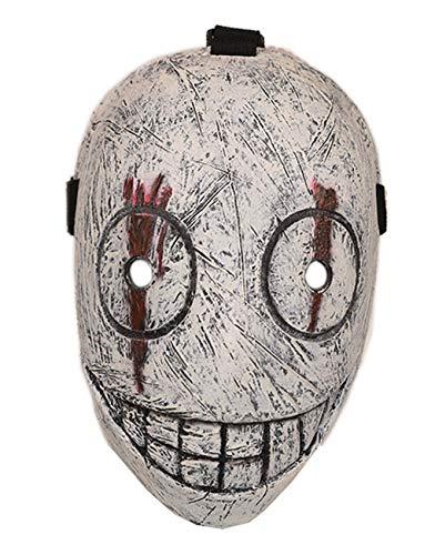 Evere Legion Frank Maske Spiel Cosplay Kostüm Latex Volles Gesicht Helm für Erwachsene Herren Halloween Verrücktes Kleid Kleidung Zubehör (Weiß)