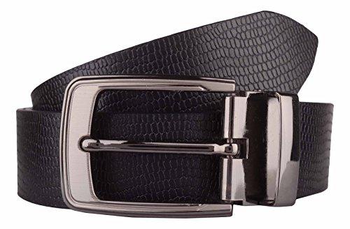 Exotique Men's Black Formal Belt (BM0029BK-S)