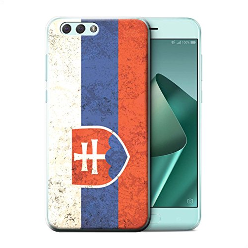 Stuff4® Hülle/Case für Asus Zenfone 4 ZE554KL / Slowakei/Slowakisch Muster/Flagge Kollektion