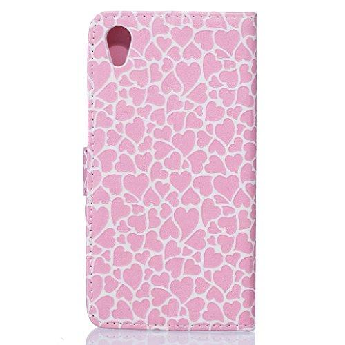 iPhone 7Custodia in pelle, w-pigcase colorato disegno o modello PU Custodia in pelle con design e confortevole Feelling per iPhone 7 love Samsung Galaxy J3 (2016) Love pattern