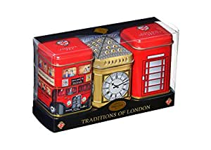 "English Tea ""Traditions of London"" - Heritage Mini Tin Triple Pack, English Tea in Mini Tins - MT28"