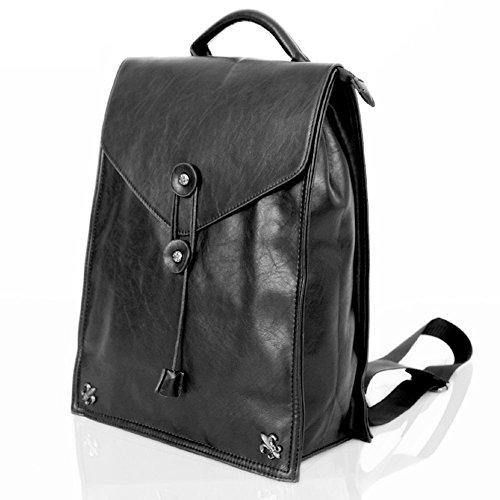 Everdoss Hommes sac à dos en cuir PU cartable sac d'école sac de loisirs populaire étanche