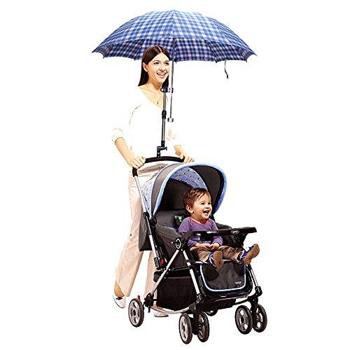 TININNA Einstellbare Kinderwagen UV Schutz Clip-On Schirmständer Halter Multifunktionale Regenschirm Halterung Zubehör