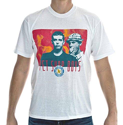 Preisvergleich Produktbild BAD TASTE T-Shirt Pet Shop Boys Weiß Größe XL Baumwolle Siebdruck