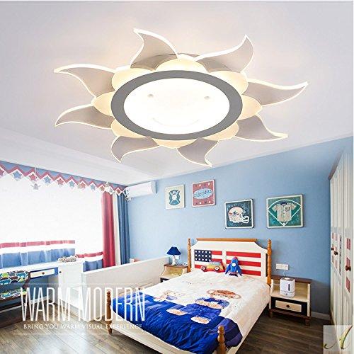 Antike Bronze-acht-licht Kronleuchter (YYSTORR Ju Teli Schlanke Kinder Zimmer Lampe Moderne Minimalistische Schlafzimmer Wohnzimmer Studie Kreative Mädchen Lampe Geführt,Warmes Licht 50 * 50Cm)