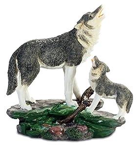Katerina Prestige Figura de Lobo con Lobo - 19 cm